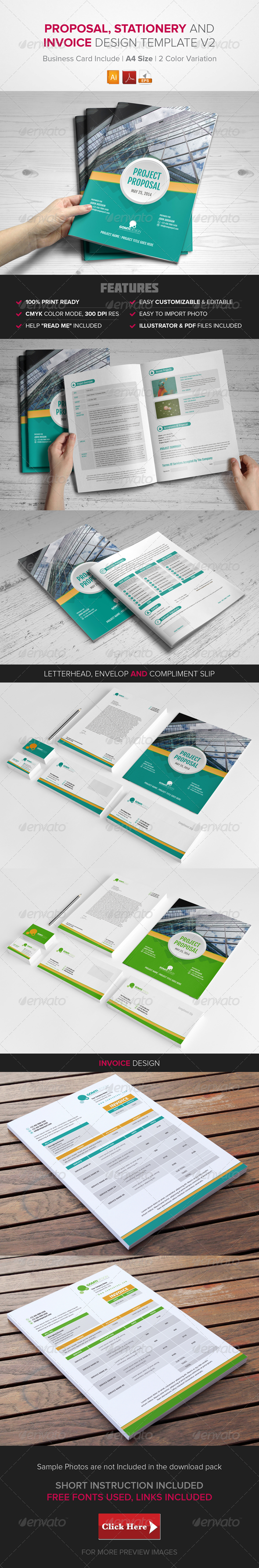GraphicRiver Proposal Stationary & Invoice Design Template v2 8613693