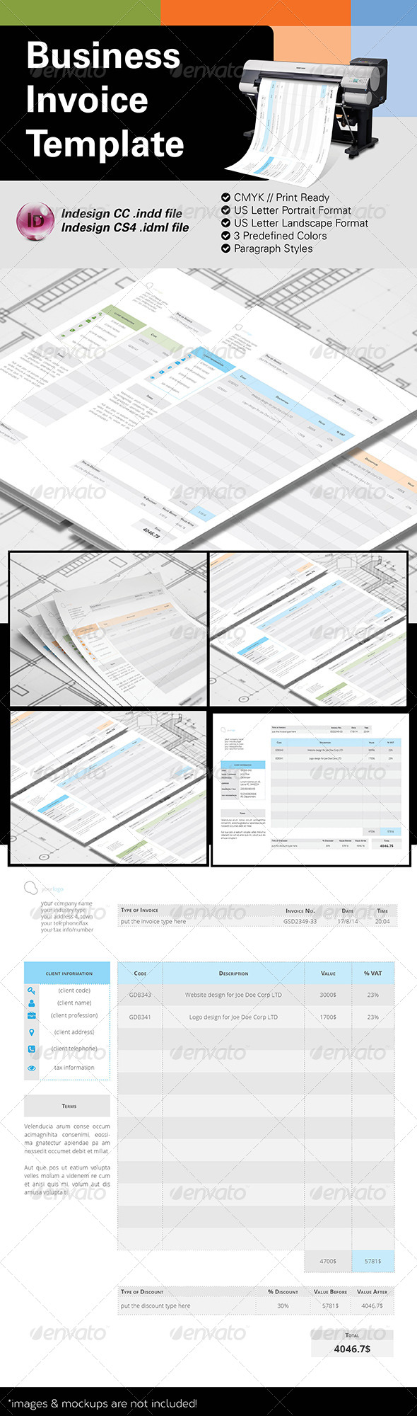 GraphicRiver Business Invoice US Letter 8613706