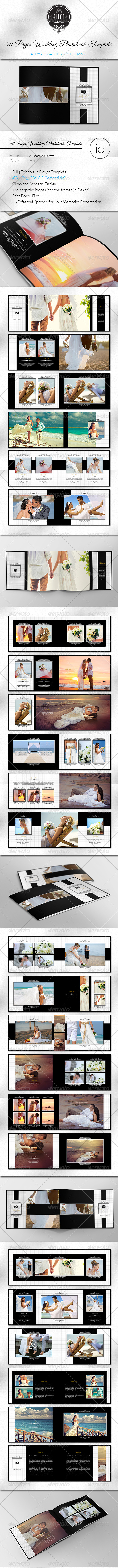 GraphicRiver 50 Pages Wedding Photobook Template 8613952