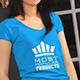 Women V-Neck T-Shirt Mock-Up Modern  - GraphicRiver Item for Sale