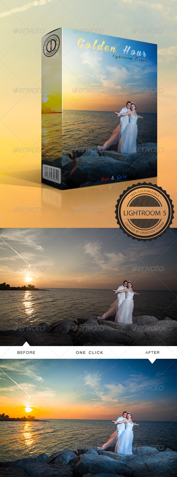 GraphicRiver Golden Hour Hot&Cold Lightroom Preset 8613955