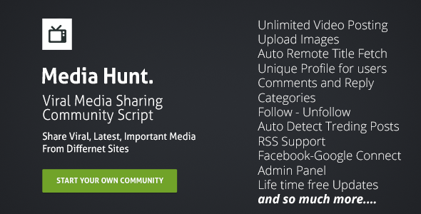 CodeCanyon Media Hunt Community Script 8565266