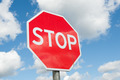 Stop sign over blue sky background - PhotoDune Item for Sale