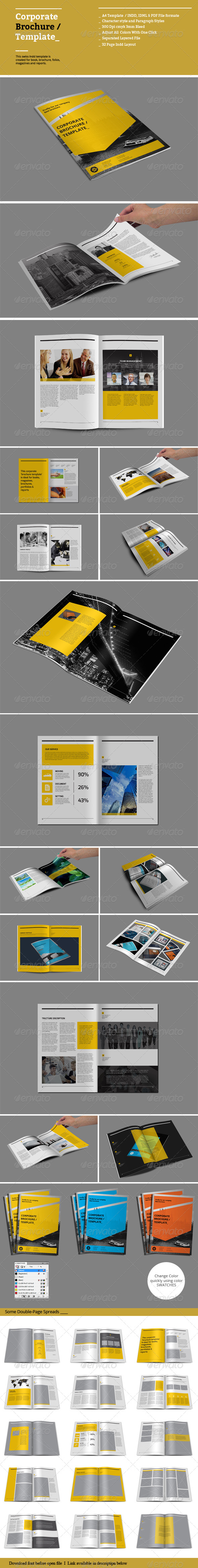 GraphicRiver Corporate Brochure Template 8614804