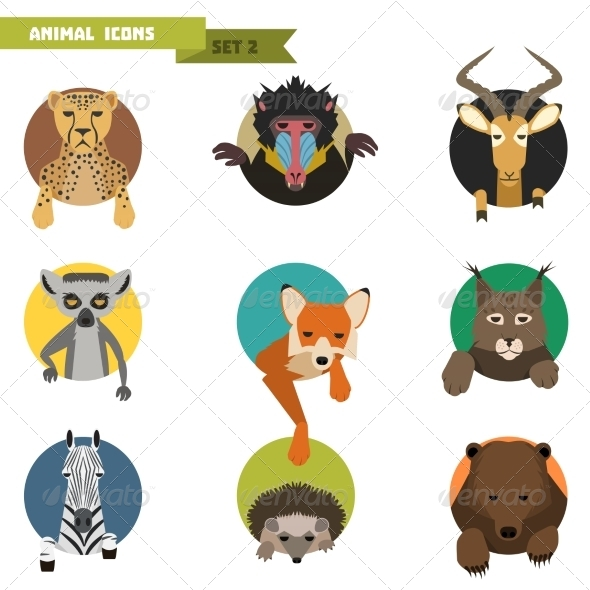 GraphicRiver Animal Avatars Vector Illustration 8615085
