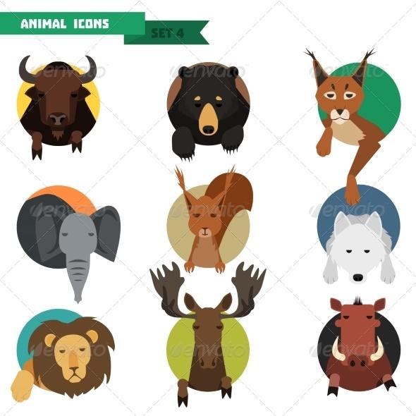 GraphicRiver Animal Avatars Vector Illustration 8615088