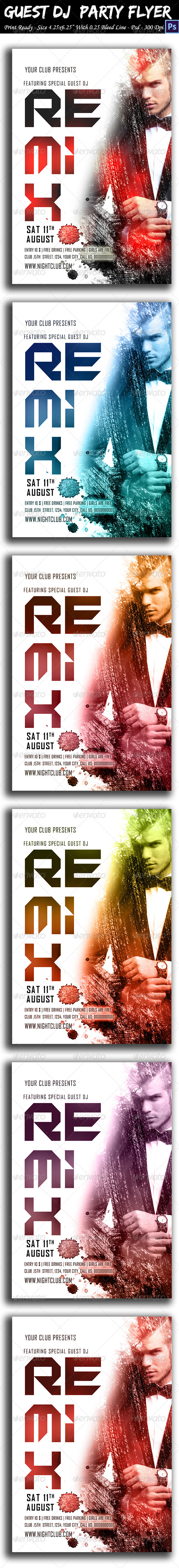 GraphicRiver Guest DJ Party Flyer Vol 2 8574707