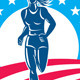American Female Runner Circle - GraphicRiver Item for Sale