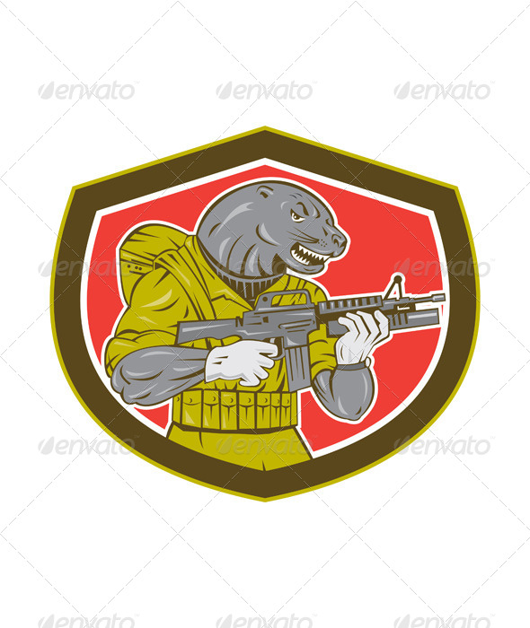 GraphicRiver Navy Seal With Armalite Rifle Shield 8615163