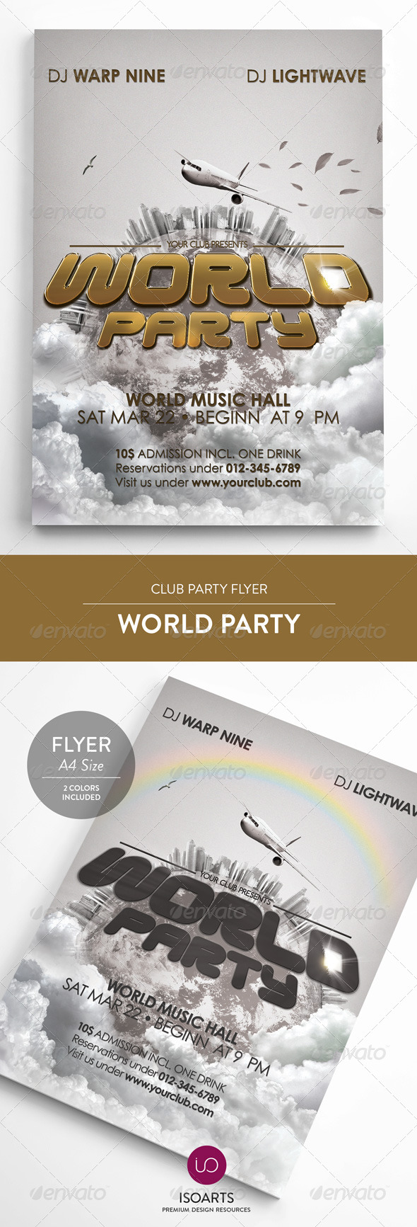 World Party • Club Party Flyer - Clubs & Parties Events