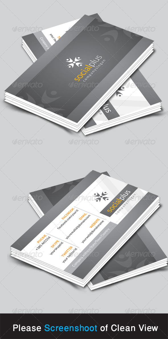 GraphicRiver Socialplus Corporate Business Card 8615309