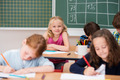 Cute pretty young blond girl in class - PhotoDune Item for Sale