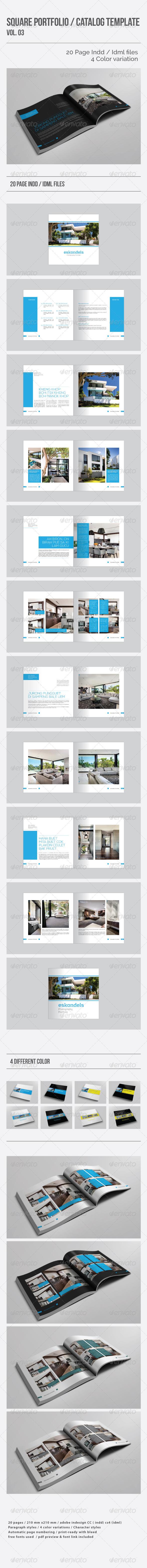 GraphicRiver Square Portfolio Catalog Template Vol.03 8615366