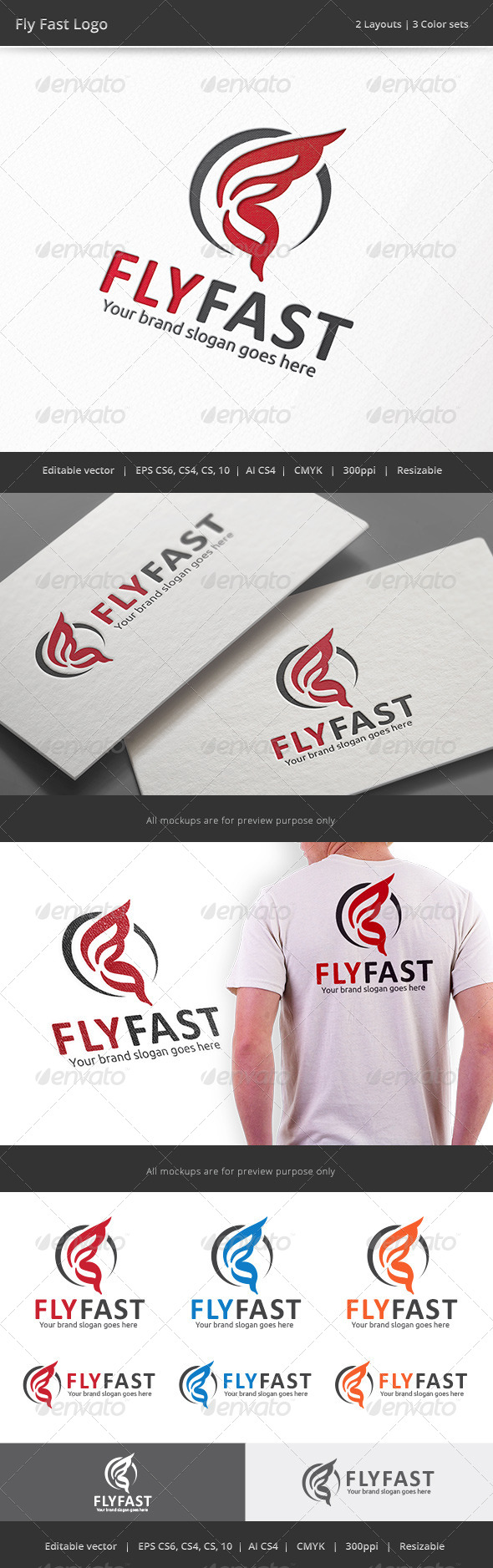 GraphicRiver Fly Fast Logo 8615535
