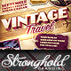 Vintage Travel Decals Poster Template - GraphicRiver Item for Sale