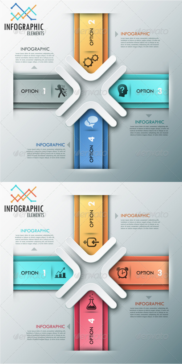 Modern Infographic Options Banner 2 Colors