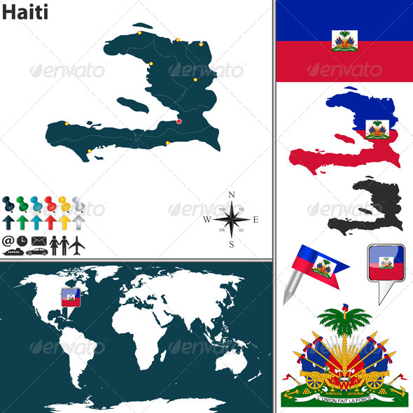 GraphicRiver Map of Haiti 8615671