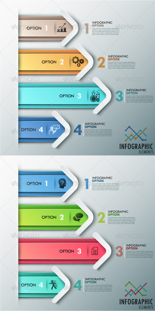 GraphicRiver Modern Infographic Options Banner 2 Colors 8615696