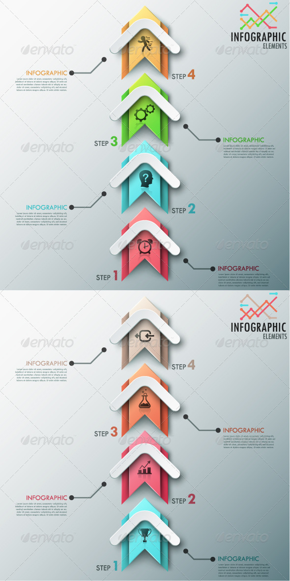 GraphicRiver Modern Infographic Process Template 2 Versions 8615730