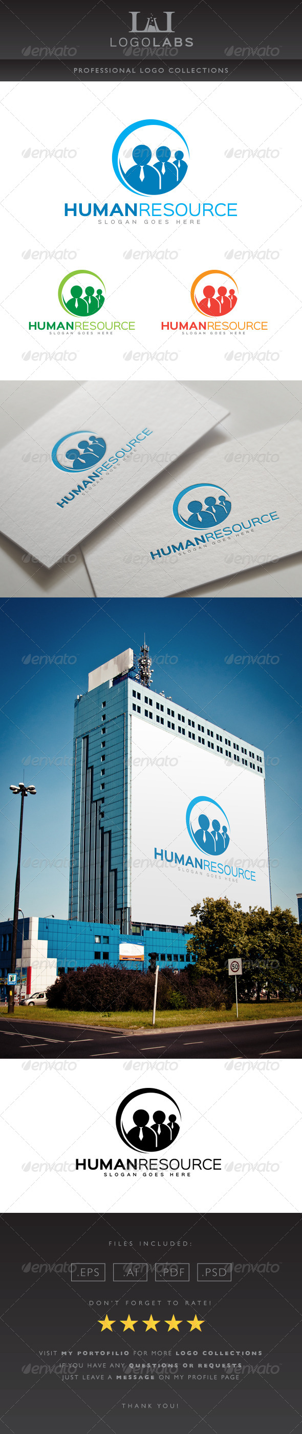 GraphicRiver Human Resource Logo 8615890