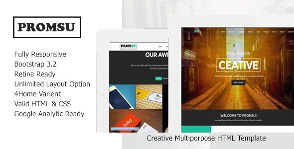 ThemeForest Promsu Creative Multiporpose HTML5 Template 8588622