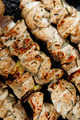 shish kebab - grilled chicken meat