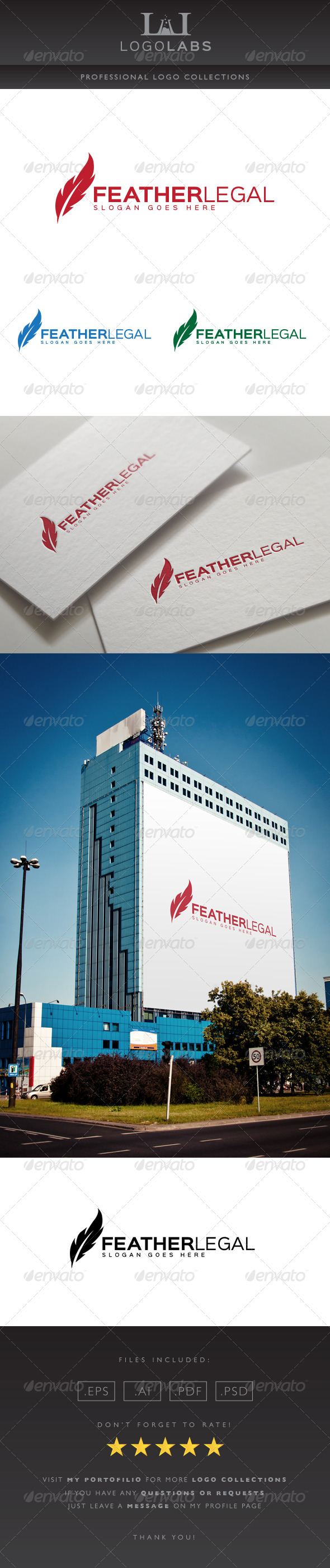 GraphicRiver Feather Logo 8615985