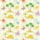 Seamless Pattern, Palm Trees and Sea Animals - GraphicRiver Item for Sale