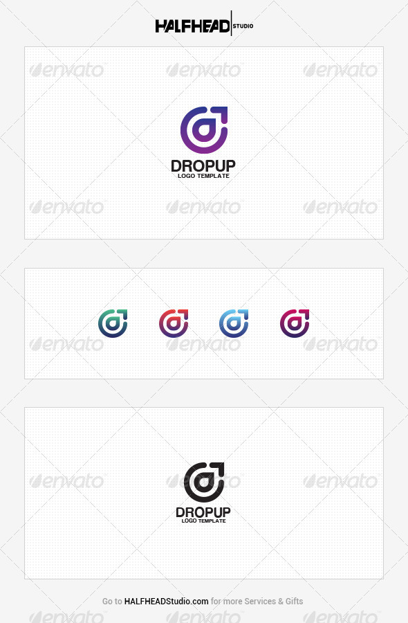 GraphicRiver DropUp Logo Template 8616451