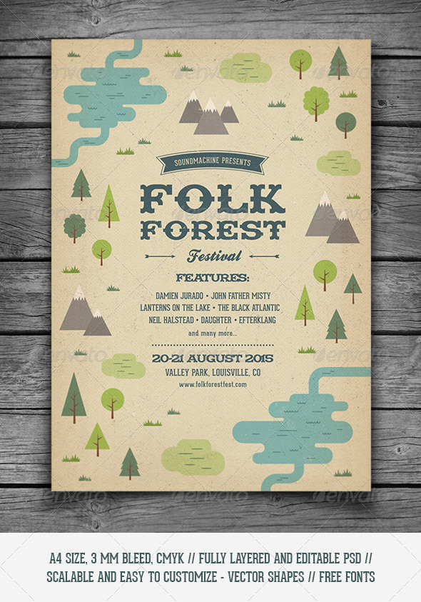 GraphicRiver Folk Forest Festival Music Flyer 8616495