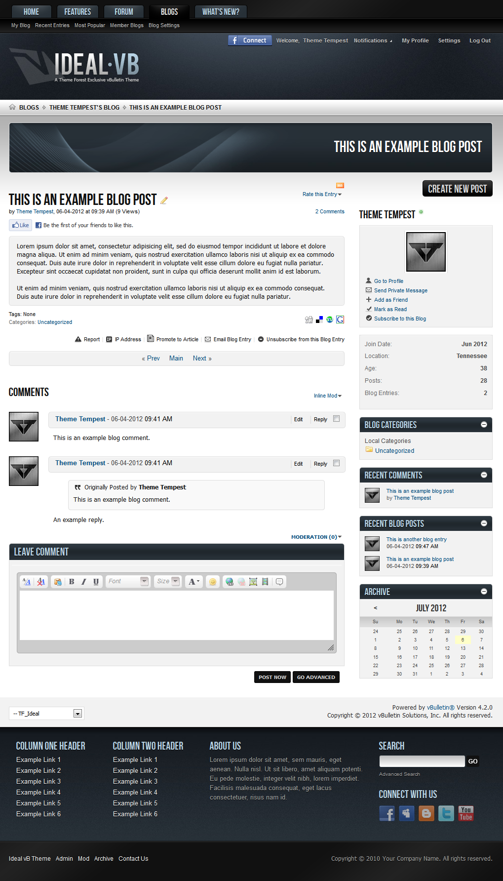 Ideal - A vBulletin 4 Suite Theme
