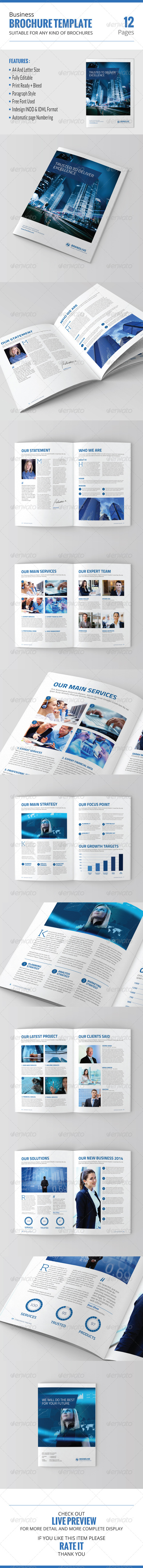 GraphicRiver Business Brochure Template 8616602