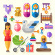 Happy Event Icons - GraphicRiver Item for Sale