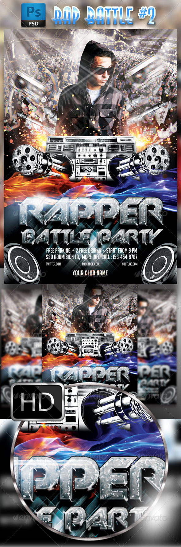 GraphicRiver Rapper Battle Flyer 8550428