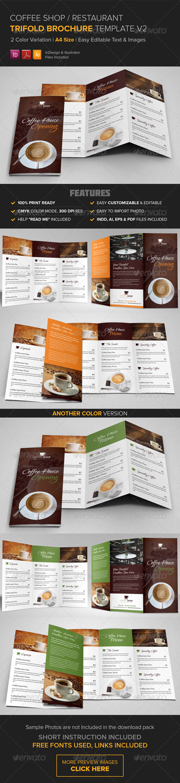 GraphicRiver Coffee Shop Restaurant Trifold Brochure v2 8616675