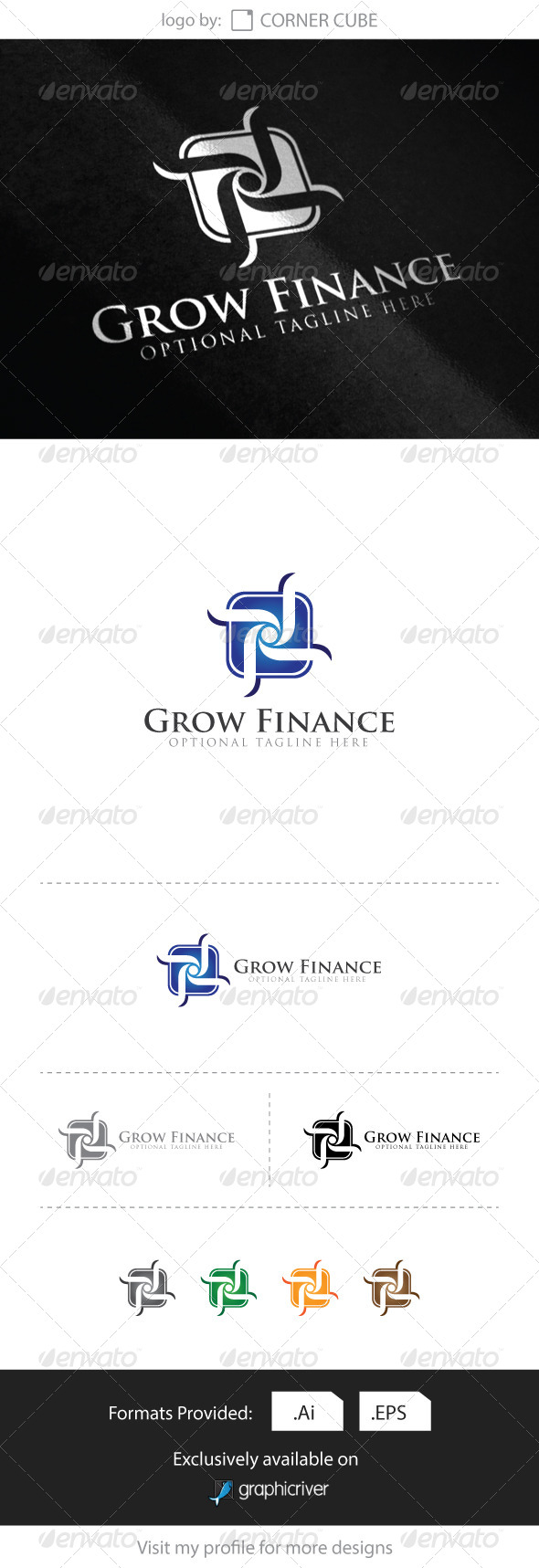 GraphicRiver Grow Financial Logo 8616993