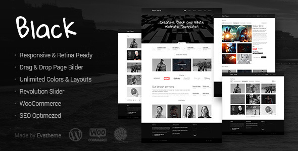 ThemeForest Black Premium Multi-Purpose WordPress Theme 8436708