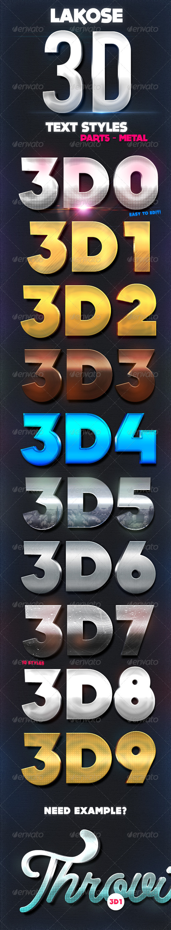 GraphicRiver Lakose 3D Text Styles Part 5 8617276