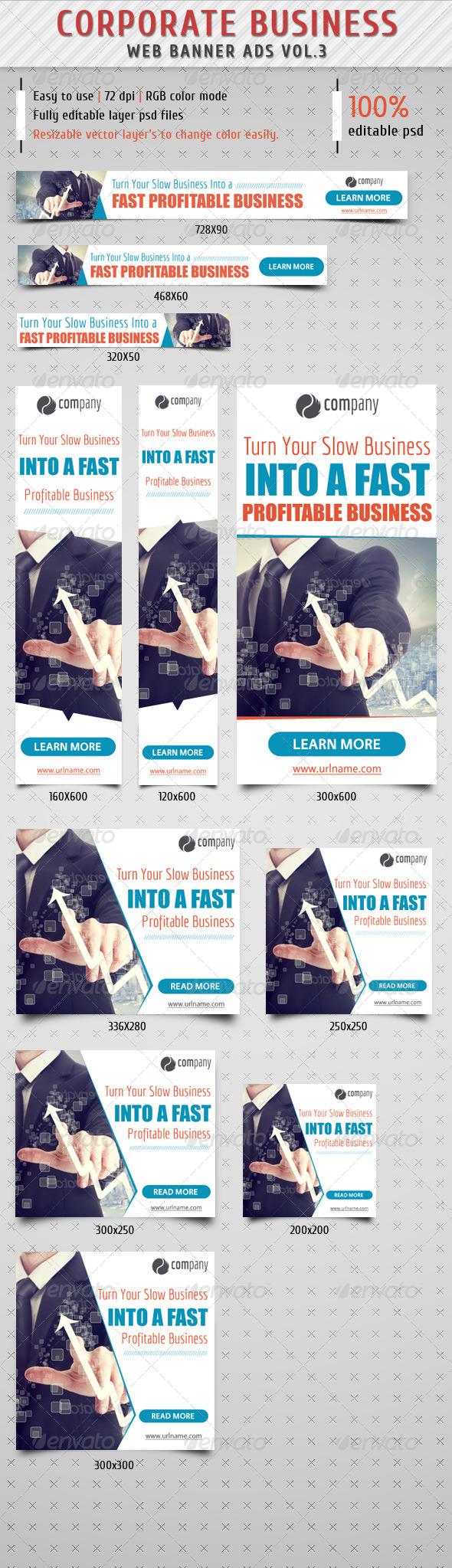 GraphicRiver Corporate Web Banner Ads Vol.3 8617285