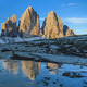 Tre cime di Lavaredo at sunrise, Dolomite Alps, Italy  - PhotoDune Item for Sale