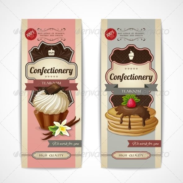 GraphicRiver Sweets Vintage Banners Vertical 8617576
