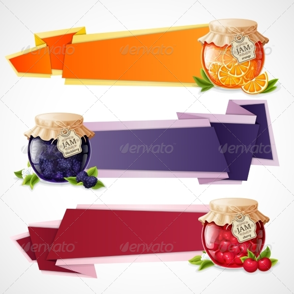 GraphicRiver Jam Origami Banners Set 8617581