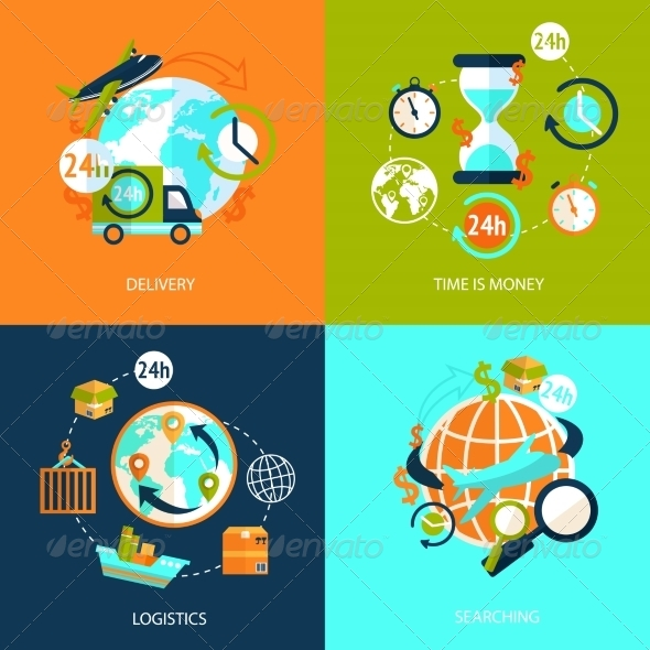 GraphicRiver Logistic Icons Set 8617596