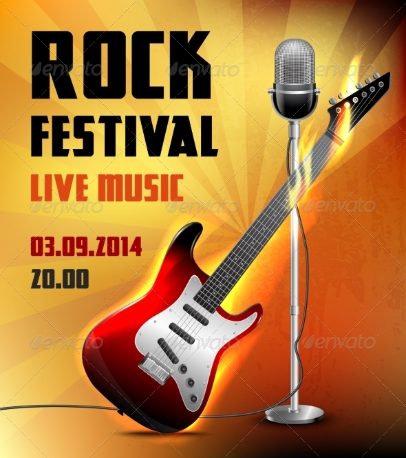 GraphicRiver Rock Concert Poster 8617599