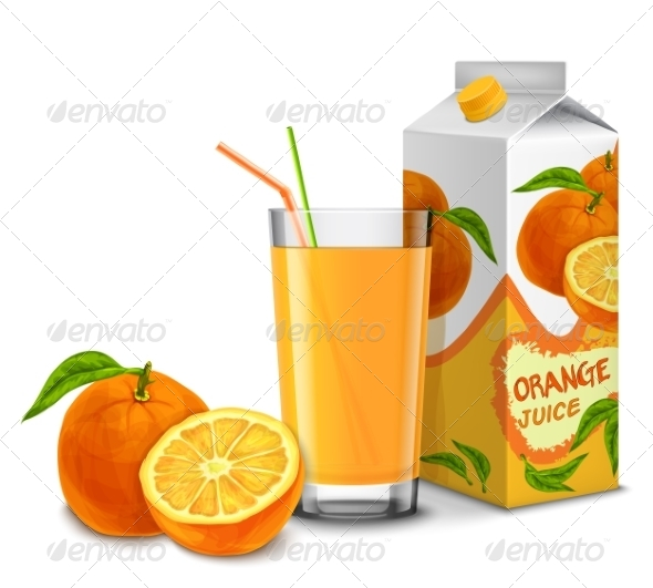 GraphicRiver Orange Juice Set 8617620