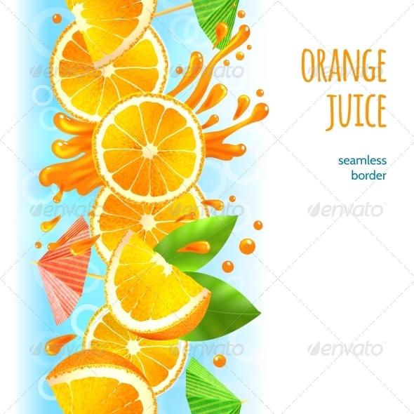 GraphicRiver Orange Juice Border 8617630