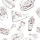 Fast Food Sketch Seamless - GraphicRiver Item for Sale