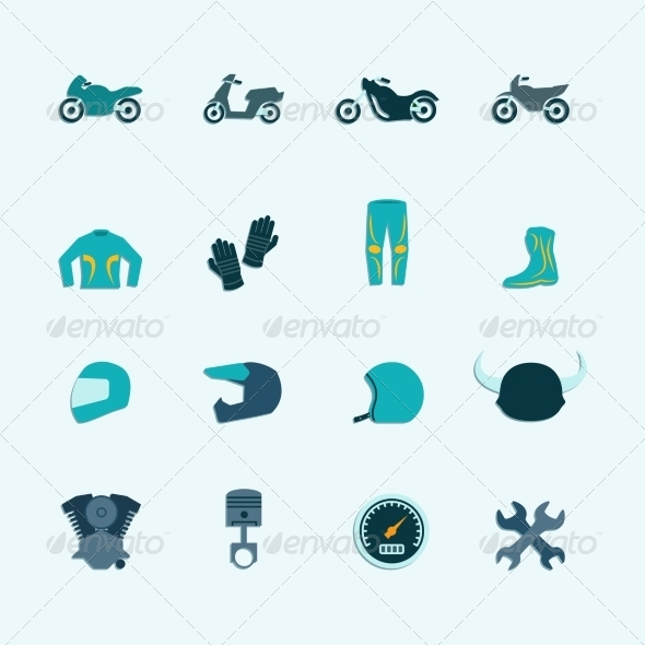 GraphicRiver Biker Icon Set 8617649