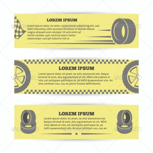 GraphicRiver Tire Banners Set 8617651