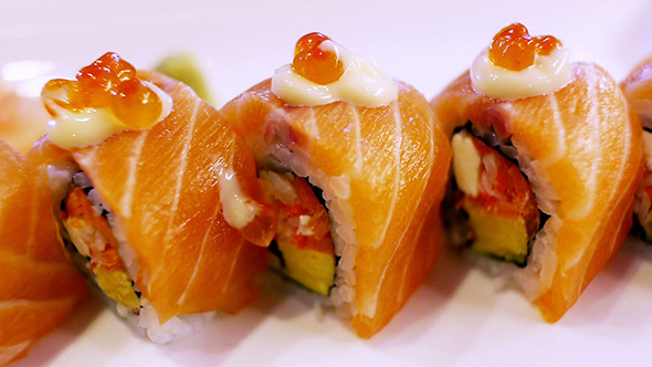 Japanese Food Salmon Sushi